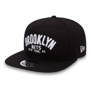 """Brooklyn Nets New Era Felt Script 9FIFTY Snapback"""