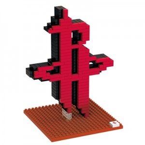 """Houston Rockets 3D BRXLZ Team Logo Construction Set"""