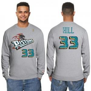 """Detroit Pistons Grant Hill Hardwood Classics Distressed Name & Number """
