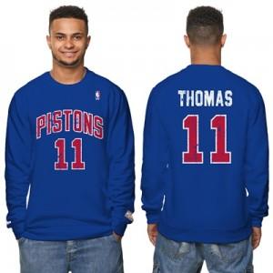 """Detroit Pistons Isiah Thomas Hardwood Classics Distressed Name & Numbe"""