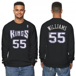 """Sacramento Kings Jason Williams Hardwood Classics Distressed Name & Nu"""