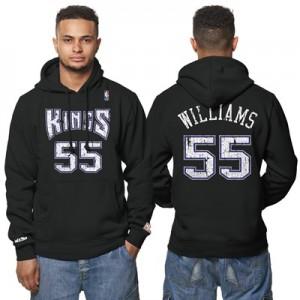 """Sacramento Kings Jason Williams Hardwood Classics Distressed Name & Nu"""