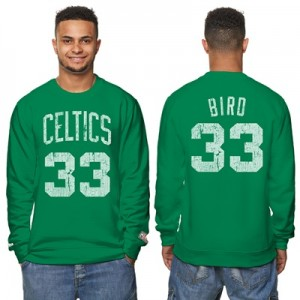 """Boston Celtics Larry Bird Hardwood Classics Distressed Name & Number P"""
