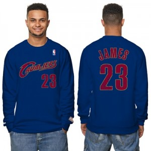 """Cleveland Cavaliers LeBron James Hardwood Classics Distressed Name & N"""