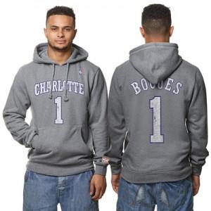 """Charlotte Hornets Muggsy Bogues Hardwood Classics Distressed Name & Nu"""