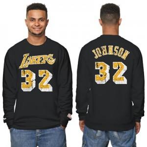 """Los Angeles Lakers Magic Johnson Hardwood Classics Distressed Name & N"""