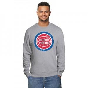 """Detroit Pistons Hardwood Classics Distressed Print Crew Neck Sweatshir"""