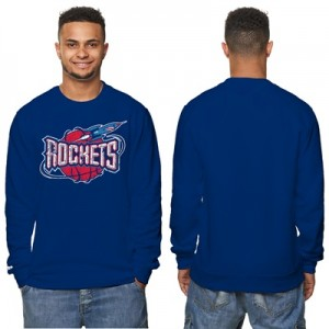 """Houston Rockets Hardwood Classics Distressed Print CREW Neck Sweatshir"""
