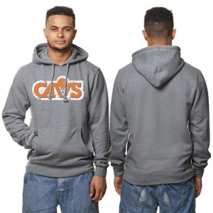 """Cleveland Cavaliers Hardwood Classics Distressed Print Hoodie – Grey H"""