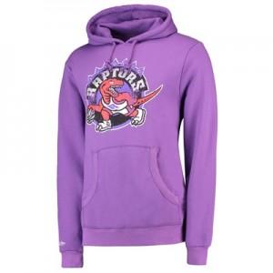 """""""Toronto Raptors Hardwood Classics Distressed Print Hoodie – Purple – M"""""""