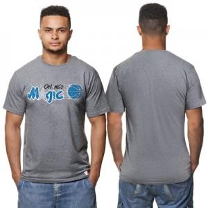 """Orlando Magic Hardwood Classics Distressed Print T-Shirt – Grey Heathe"""