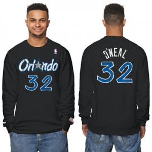 """Orlando Magic Shaquille ONeal Hardwood Classics Distressed Name & Numb"""