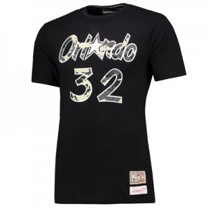 """Orlando Magic Shaquille ONeal Harwood Classics Camo Name & Number T-Sh"""