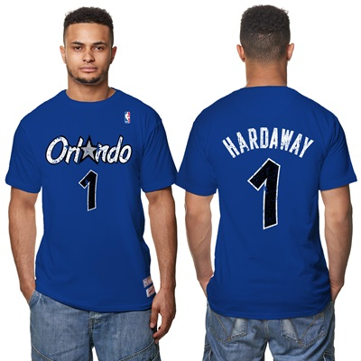 """Orlando Magic Penny Hardaway Hardwood Classics Distressed Name & Numbe"""