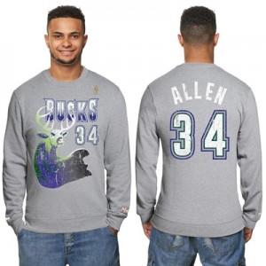 """Milwaukee Bucks Ray Allen Hardwood Classics Distressed Name & Number P"""