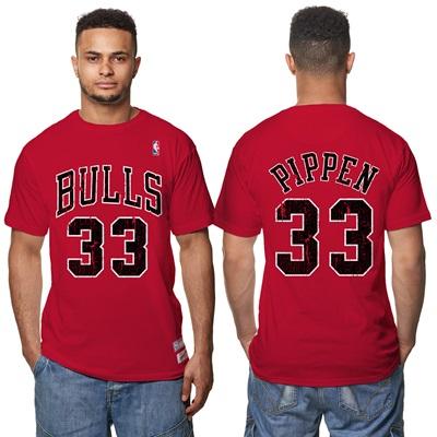 """Chicago Bulls Scottie Pippen Hardwood Classics Distressed Name & Numbe"""