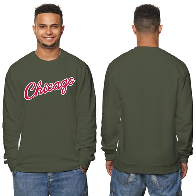 """Chicago Bulls Hardwood Classics – Fashion Wordmark Crew Neck Sweatshir"""