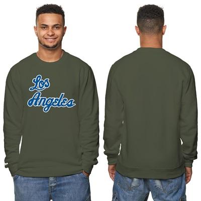 """Los Angeles Lakers Hardwood Classics – Fashion Wordmark Crew Neck Swea"""