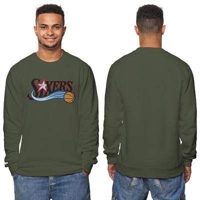 """Philadelphia 76ers Hardwood Classics – Fashion Wordmark Crew Neck Swea"""