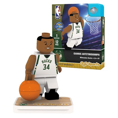 """Milwaukee Bucks Giannis Antetokounmpo Minifigure"""