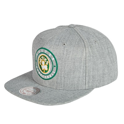 """Boston Celtics Hardwood Classics Circle Patch Snapback Cap"""