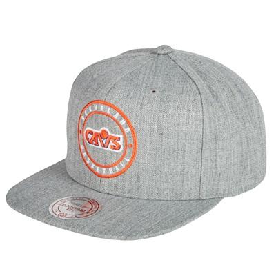 """Cleveland Cavaliers Hardwood Classics Circle Patch Snapback Cap"""