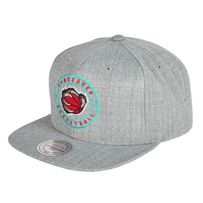 """Vancouver Grizzlies Hardwood Classics Circle Patch Snapback Cap"""