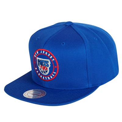 """New Jersey Nets Hardwood Classics Circle Patch Snapback Cap"""