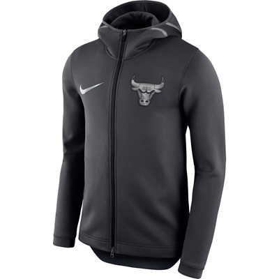 """Chicago Bulls Nike Therma Flex Showtime Jacket – Reflective Silver – M"""