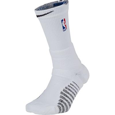 """NBA Nikegrip Power On-Court Crew Sock – White/Black – Mens"""