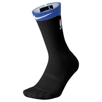 """""""NBA Nike Elite Alternate On-Court Crew Sock – Black/Game Royal – Mens"""""""