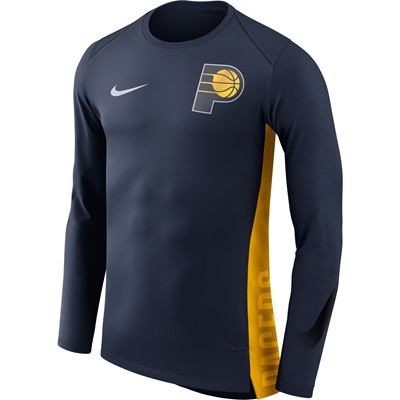"""Indiana Pacers Nike Hyperelite Long Sleeve Shooter – College Navy – Me"""
