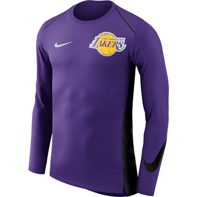 """Los Angeles Lakers Nike Hyperelite Long Sleeve Shooter – Field Purple """