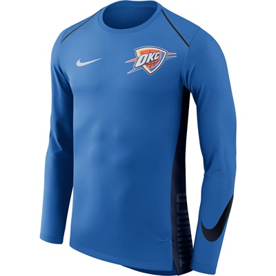 """Oklahoma City Thunder Nike Hyperelite Long Sleeve Shooter – Signal Blu"""