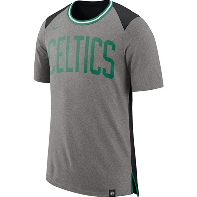 """Boston Celtics Nike Fan Short Sleeve Top – Dark Grey Heather – Mens"""