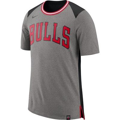 """Chicago Bulls Nike Fan Short Sleeve Top – Dark Grey Heather – Mens"""