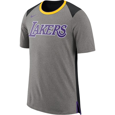 """Los Angeles Lakers Nike Fan Short Sleeve Top – Dark Grey Heather – Men"""