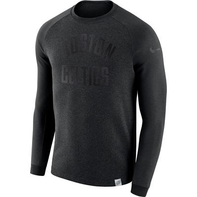"""Boston Celtics Nike Modern Crew Sweatshirt – Black Heather – Mens"""