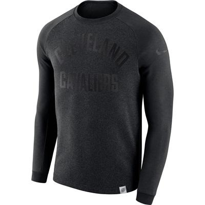 """Cleveland Cavaliers Nike Modern Crew Sweatshirt – Black Heather – Mens"""