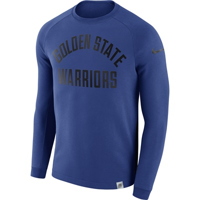 """Golden State Warriors Nike Modern Crew Sweatshirt – Rush Blue – Mens"""