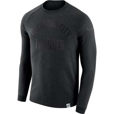 """Oklahoma City Thunder Nike Modern Crew Sweatshirt – Black Heather – Me"""