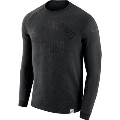 """San Antonio Spurs Nike Modern Crew Sweatshirt – Black Heather – Mens"""