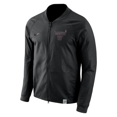 """Chicago Bulls Nike Modern Varsity Jacket – Black – Mens"""