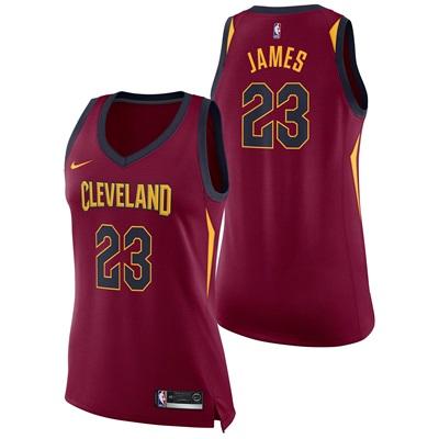 """Cleveland Cavaliers Nike Icon Swingman Jersey – LeBron James – Womens"""