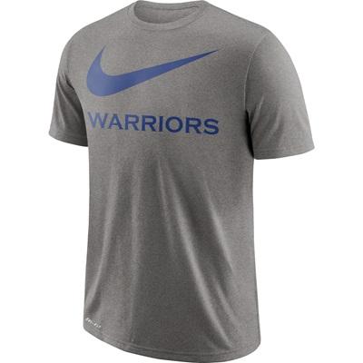 """Golden State Warriors Nike Swoosh T-Shirt – Dark Grey Heather – Mens"""
