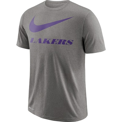 """Los Angeles Lakers Nike Swoosh T-Shirt – Dark Grey Heather – Mens"""