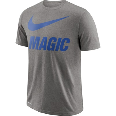"""Orlando Magic Nike Swoosh T-Shirt – Dark Grey Heather – Mens"""