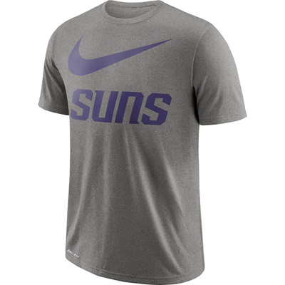 """Phoenix Suns Nike Swoosh T-Shirt – Dark Grey Heather – Mens"""