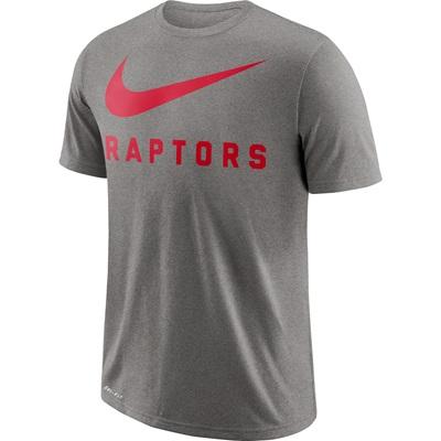 """Toronto Raptors Nike Swoosh T-Shirt – Dark Grey Heather – Mens"""