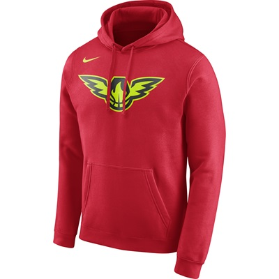 """Atlanta Hawks Nike Logo Fleece Hoodie – University Red – Mens"""